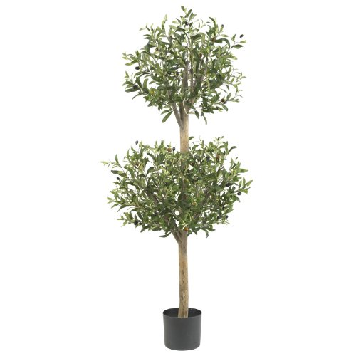 Silk 5309 4,5 pi Olive Double Topiary arbre de soie Nearly Natural