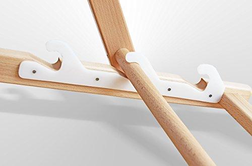 Sedia A Sdraio Tessuto : Sedia a sdraio legno bianco senza braccioli pieghevole con