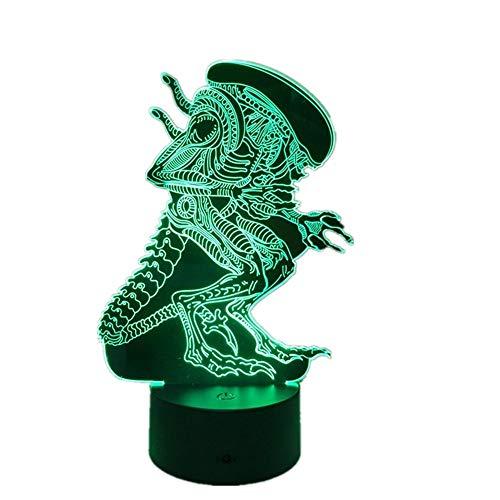 WangZJ Spielzeug Nachtlicht / 3d Lampe Für Kinder / 7 Farbwechsel/dekorieren Kinder Schlafzimmer Geschenke/Geschenke Für Männer/Alien Monster