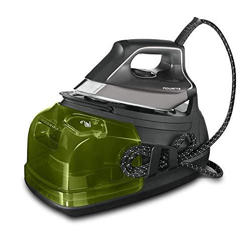 Rowenta Perfect Steam Pro DG8626F0 Centrale Vapeur 2400 W Golpe 450 Vapeur Compteur 120 g/min, Microsteam Laser 400 Sohle, Fonction Eco, Noir (Dépassement général)