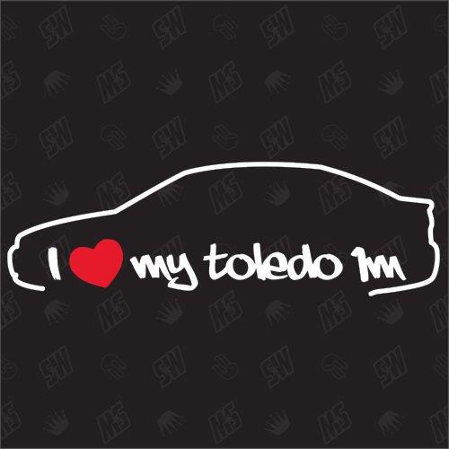 speedwerk-motorwear I Love My Toledo 1m - Sticker für Seat - Bj. 1991-1999