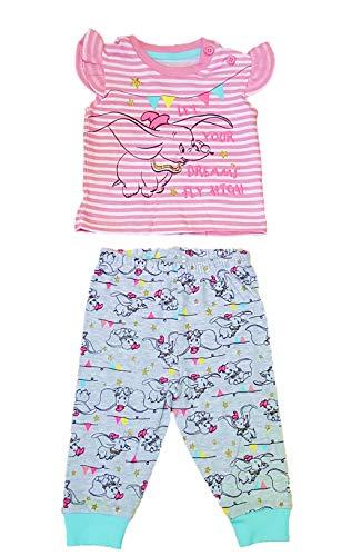 Licensed_Primark - Pijamas Enteros - para bebé niña Rosa/Gris [98 cm]