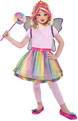 Barbie Regenbogen Fee Zauberstab Flügel Magische Rollenspiele Karneval Kostüm Outfit Zubehör Kit ()