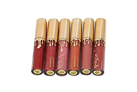 Haoza Lot de 6?mini tapis liquide rouge à lèvres rouge à lèvres Liquid Lip Gloss Lip Liner Maquillage longue durée