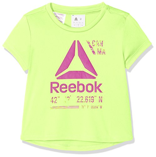 4t Tee (Reebok G Es Pol Tee + T-Shirt, für Mädchen, G ES POL Tee +, grün (elefla), 4T)