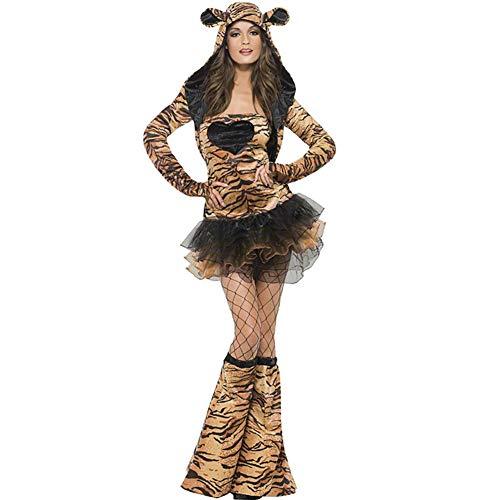 d Print Patent Leder Monkey Kostüm Leder Jumpsuit Halloween Cat Girl Cosplay Kostüm ()