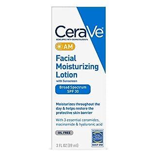 CeraVe – Loción facial hidratante AM, 3 oz