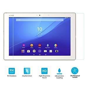 Alienwork Films de protection pour Sony Xperia Z4 Tablet verre trempé 0,26 mm transparent Anti-rayures dureté superbe verre Transparent SPZ4T-01