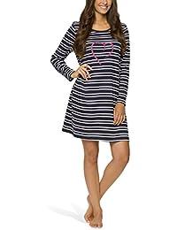 Moonline - Damen Nachthemd kurz Sleepshirt Nachtkleid aus 100% Baumwolle von Größe S - 4XL