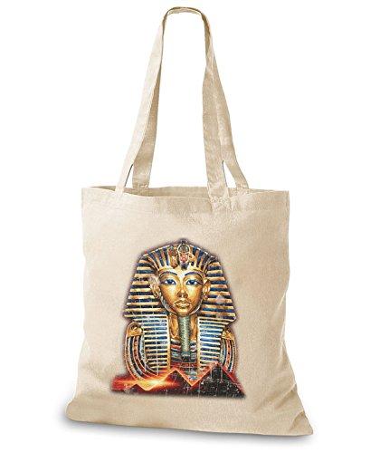StyloBags Jutebeutel / Tasche Tutanchamun Natur