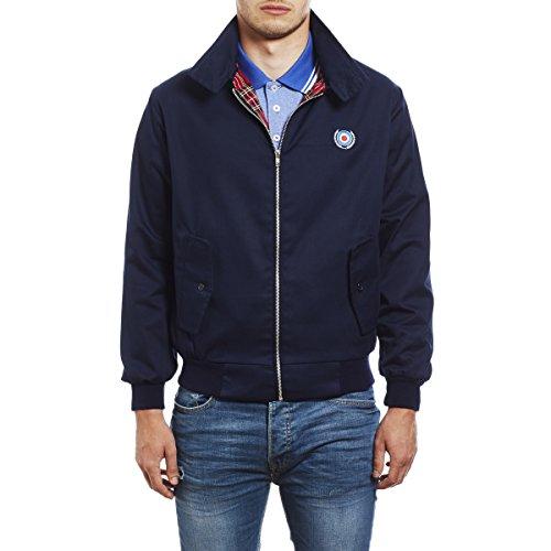 Herren Harrington Mod Jacke von 45REVS. Blau/XL -