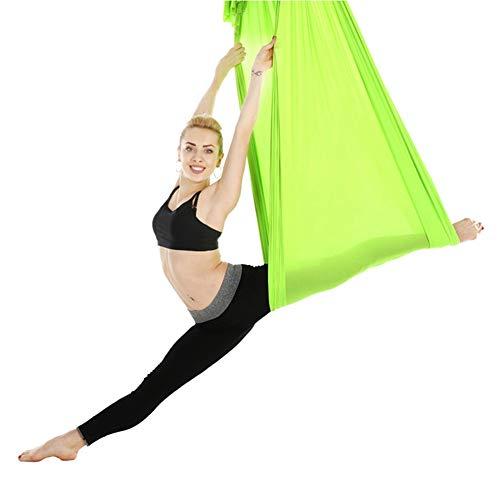 Zer one Amaca Yoga Durevole Swing Yoga Hammock Set Accessorio per Allenamento Fitness per Principianti e Professionisti(Green)