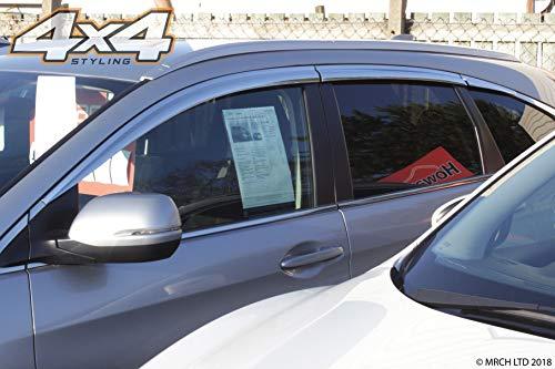Autoclover Jeu de 6 déflecteurs d'air chromés pour Honda CRV 2012-2017