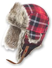 Ignite Mütze Plaid für II - Gorro de esquí para mujer, color rojo, talla L/XL