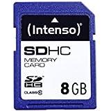Intenso 3411460 Carte mémoire SDHC 8 Go Classe 10