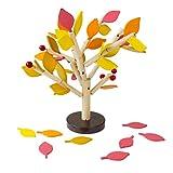 MagiDeal Kreative DIY Holz Bausteine Baum Form Puzzle Lernspielzeug Geschenk für Kinder ab 3 Jahre alt - Orange