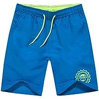 Pantalones de secado rápido Hombres Casual Boardshorts Vacaciones de verano Pantalones cortos de playa suelta Verano