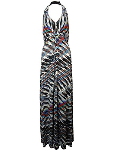Jessica Simpson Women's Faux Knit Striped Halter Jersey Dress (XS, Equids) (Jessica Jersey Pullover)