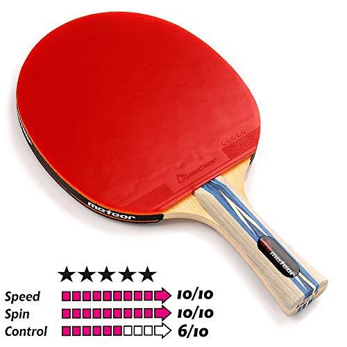 Pala Tenis de Mesa Ideal para Principiantes y avanzados - la Raqueta de Tenis de Mesa para niños y Adultos - Raqueta Mesa Ping Pong para Entrenamiento y Partidos (5 Estrellas)