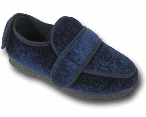 Nouveaux refroidisseurs marque CosyComfort dames ORTHOPAEDIC 200 pied enflé pantoufles Bleu Marine