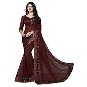 Fab Valley Georgette Saree With Blouse Piece (FAB-1054-S_Free Size)