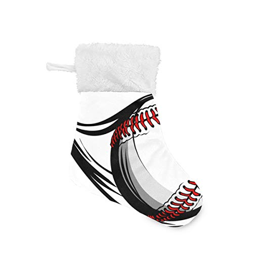 XiangHeFu Fliegen-Baseball-Weihnachtsstrumpf trifft Halter-Weihnachtsdekor Santa Bags Club hart