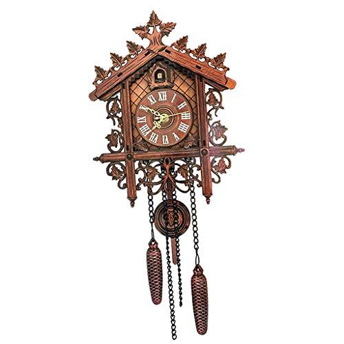 D DOLITY Holz Kuckucksuhr Kuckuck Uhr Schwarzwald Wanduhr Ornament für Wohnzimmer Kinderzimmer - 2