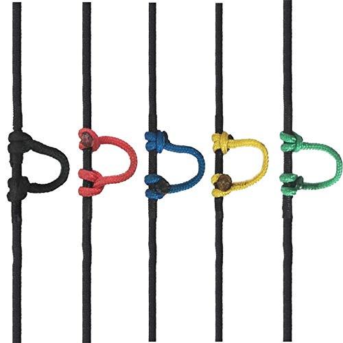 5 Stücke Zufällige Farbe 3 Mt D Schleife Ring Seil String Release U Seil Nylon Bowstring Aid Zubehör Für Compoundbogen