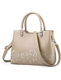 7eeb0317b3ef5 Damen Leder Handtasche Frauen Messenger Bag weiblichen Leder Schulter  Tasche Frauen Stickerei…