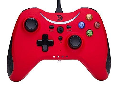 ZD T USB wired Gamepad Controller Gamecontroller Joystick für PC (Windows XP/7/8/8.1/10) & PlayStation 3 & Android&Steam - Die Xbox 360 / One nicht unterstützen[red]