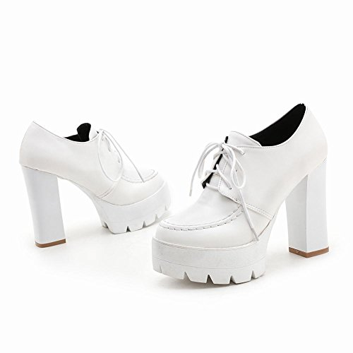 MissSaSa Donna Scarpe col Tacco Alto Casual e Elegante Bianco