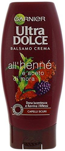 Garnier Ultra Dolce Henné e Aceto di Mora Balsamo per Capelli Scuri, 200 ml