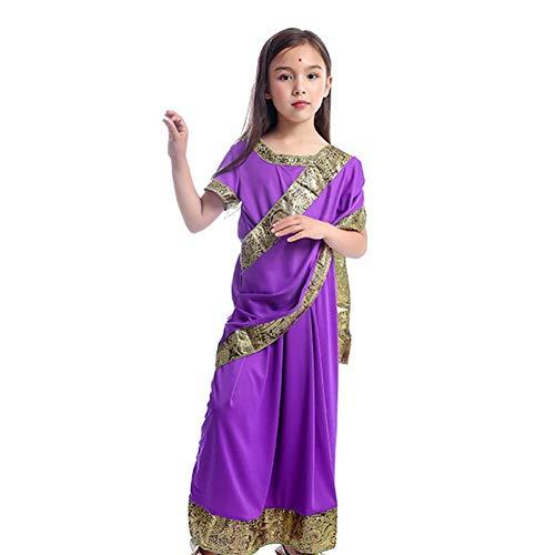 GUAN Halloween Kostüm Mädchen verkleiden Sich Kinder Prinzessin Maskerade Bühnenauftritt Spielspiel Kostüm (Indien Prinzessin Kostüm)