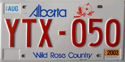 ALBERTA Nummernschild KANADA Kennzeichen # Auto - Schild aus Nordamerika # CANADA