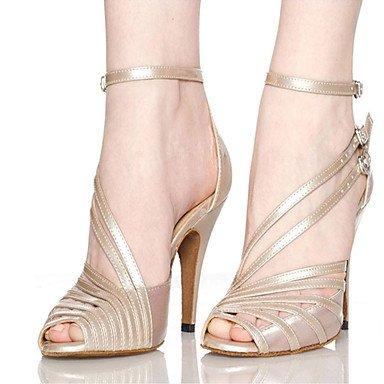 Scarpe da ballo-Da donna-Balli latino-americani / Jazz / Sneakers da danza moderna / Moderno-Quadrato-Raso / Finta pelle- Black