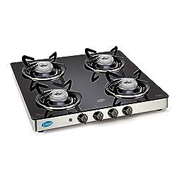Glen Sd Gt 4 Burner Automatic (Ai) Glass Cooktop ,Black