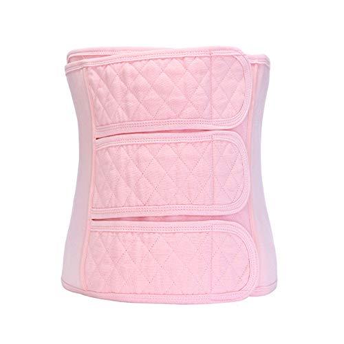 LLHG Schwangerschaft Mutterschaft Elastische Erholung Bauch Shaper Postpartum Stützgürtel Body Shaper Taille Binder Wrap Post Gewichtsverlust,Pink,XL - Für Frauen Xl Bindemittel Bauch