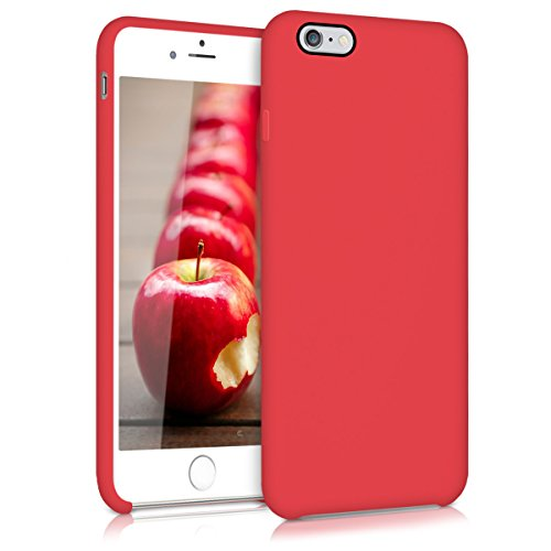 kwmobile Hülle für Apple iPhone 6 Plus / 6S Plus - TPU Silikon Backcover Case Handy Schutzhülle - Cover Metallic Rosegold .Rot