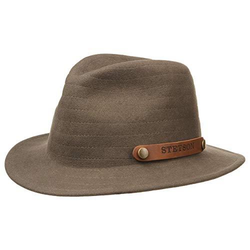 Stetson Chapeau Hershey VitaFelt pour homme de feutre (L (58-59 cm) - marron)