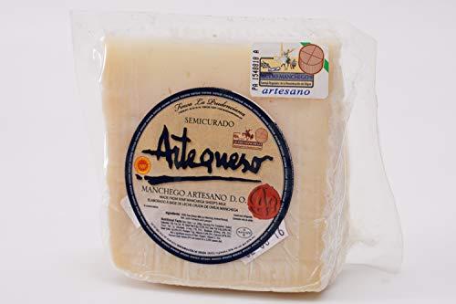 Queso Oveja Semicurado 'DO Manchego' (Cuña, 250 g) - Artequeso