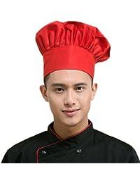 Leisial Gorro de Cocinero con Estilo Seta Chef de Cocina Sombrero de Hotel  Bar Restaurante Chef 04b4dd3fc6d