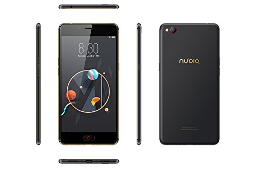 Nubia N2 Smartphone (14 cm (5.5 Zoll), 64GB interner Speicher, 4GB RAM, 13 Megapixel Kamera, Android 6.0 Marshmallow) Black Gold