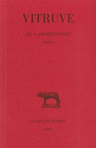 De l' Architecture. Livre IV