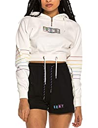Grimey Sudadera Capucha Fluid Planet Crop Zip Blanco L (Large)