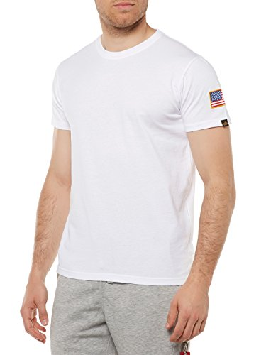 ALPHA INDUSTRIES Nasa T T-Shirt Weiß