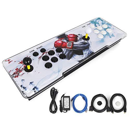 Anhon Neue 1299 Spiele in 1 HD Arcade Videospielkonsole Startseite Doppel Spieler 220 V Für PC Oder TV Schwarz und Weiß Knopf
