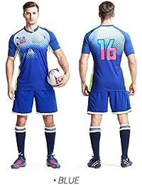 31ba6ea51e443 LQZQSP Equipo De Entrenamiento De Los Equipos De Fútbol Masculino De  Camiseta De Fútbol Masculino Camiseta