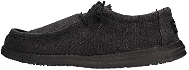 Dude Shoes Männer Wally Klassische Tiefschwarz