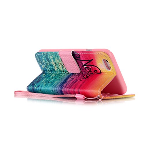 KATUMO® Hülle für Apple iPhone 6/6S Plus, Flip Cover Premium Ultra Thin PU Leder Wallet Case iPhone 6 Plus Handy Tasche Brieftasche Schale mit Kartenfächern und Standfunktion,Schiefer Turm Traum