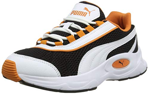 Puma Unisex-Erwachsene Nucleus Sneaker, Black-Jaffa Orange, 48.5 EU
